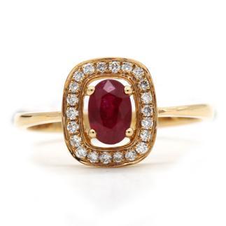 老凤祥   165000621773   彩色18K金红宝石戒指