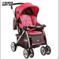 小龙哈彼婴儿推车双向可坐躺全蓬折叠轻便避震好孩子手推车LC519H  (黑色)