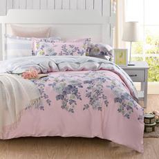 克莉维娅 100%全棉斜纹活性印花四件套 田园小清新女孩床上用品床单被套1.5米1.8米套件