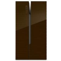 Hisense海信BCD-630WTDGVBPI 咖啡色玻璃 风冷无霜 双变频 带软冷对开冰箱