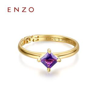 ENZO   10K黄金托帕石黄晶橄榄石彩宝女戒