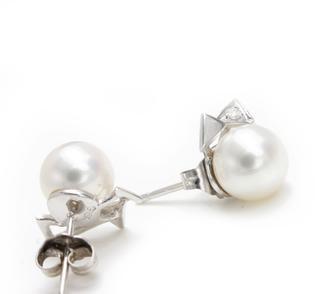 欧诗漫    0000175767金750淡水珍珠耳环