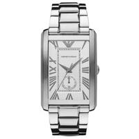 阿玛尼手表 長型白盘男表男士手表 AR1607