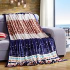 帛典家纺超柔雪貂绒毛毯珊瑚绒毯法兰绒毯子单双人卡通印花条纹毛毯