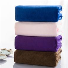花果果 毛巾 极简主义浴巾 超细纤维 柔软吸水酒店素色浴巾