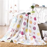 花果果 五层纱布童被 儿童纯棉卡通毛巾被 空调被儿童盖毯