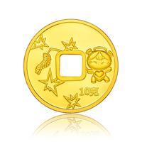 平安福星宝宝黄金足金金币