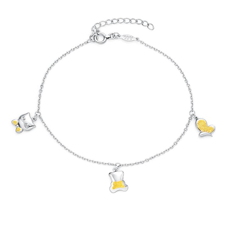 时尚PT950黄铂金手链