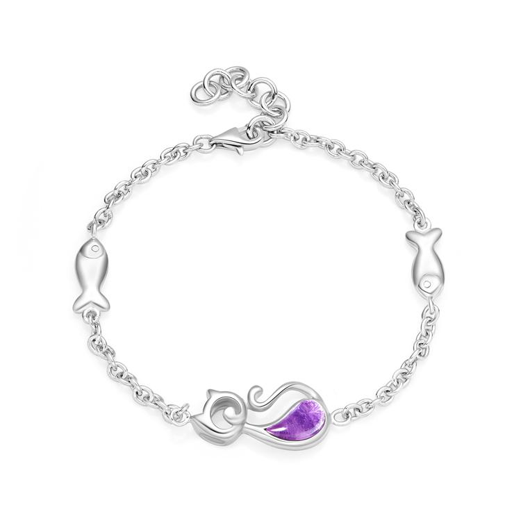 【网店尊享款】CoCo Cat银925镶紫晶手链