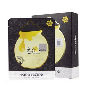 韩国 春雨 黑卢卡蜂胶蜜罐补水保湿面膜  10片装