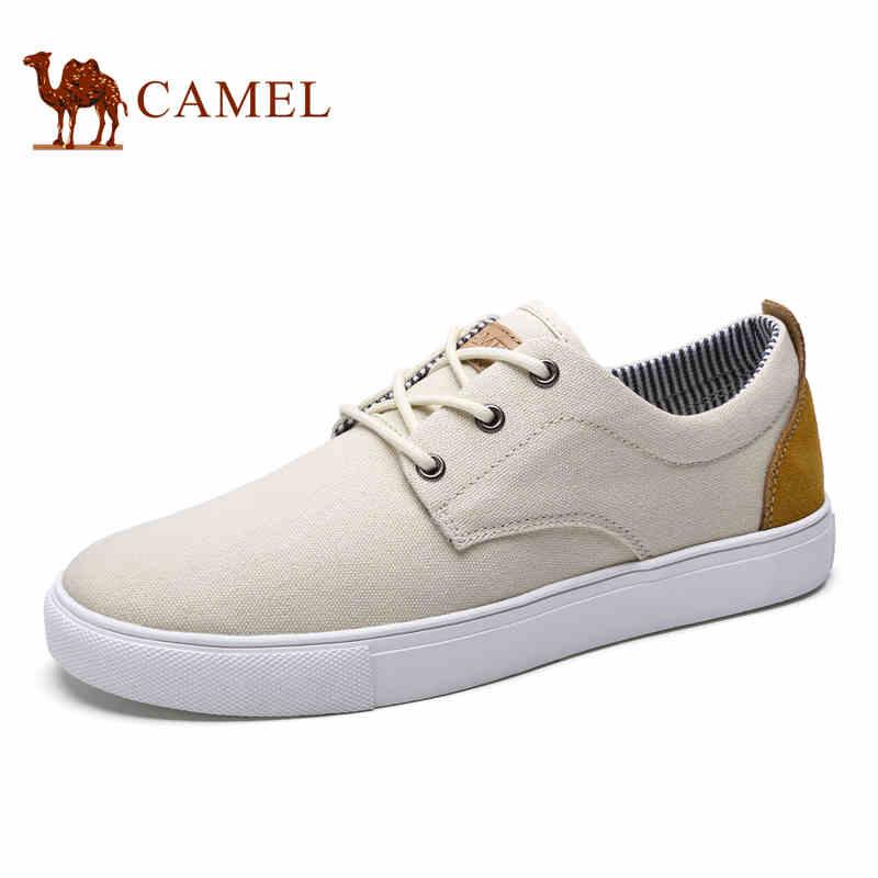 camel骆驼男鞋 2017春季新款舒适潮流简约帆布鞋 轻便休闲男鞋