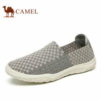 camel骆驼男鞋 2017春季新品情侣款 轻质舒适透气套脚时尚编织鞋
