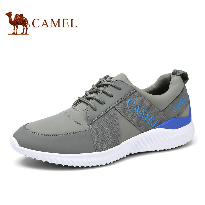 camel骆驼男鞋 2017春季新品 优质牛皮舒适透气时尚休闲运动鞋