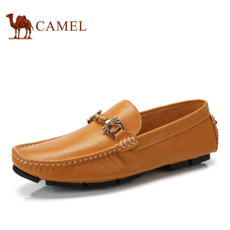 camel骆驼男鞋 2017春季新品 经典豆豆鞋驾车鞋男鞋潮鞋套脚鞋