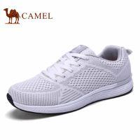 camel骆驼男鞋 2017春夏新款跑步鞋时尚飞织网布运动男鞋