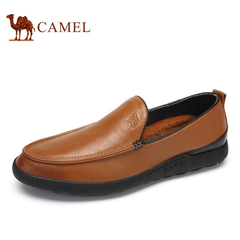 camel骆驼男鞋 2017春季新品 透气柔软商务休闲鞋轻盈缓震防滑皮鞋