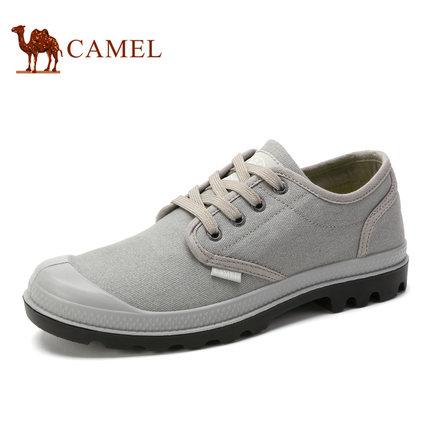 camel骆驼男鞋 2017春季新品 舒适防滑帆布鞋耐磨耐折户外休闲鞋