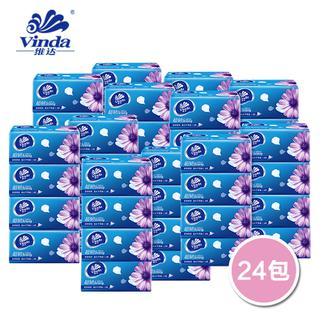 维达超韧系列软抽纸巾面巾纸无香婴儿可用(3层4提24包) 2239*1*24