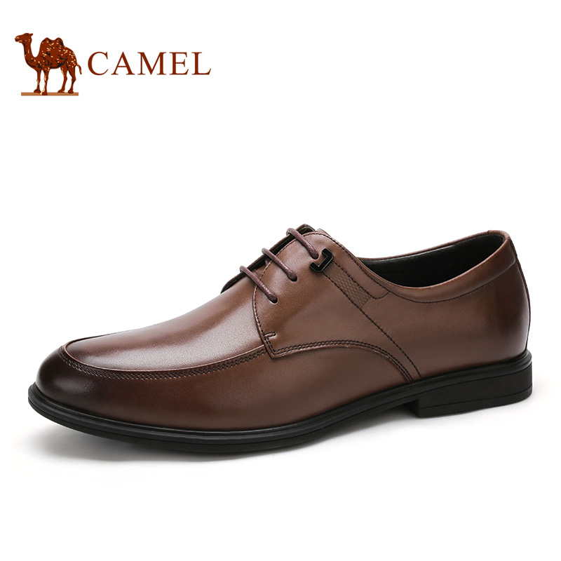 camel骆驼男鞋真皮商务正装皮鞋舒适商务男鞋 2016新款
