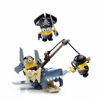 美高小黄人大眼萌海底大冒险套装益智小颗粒5岁积木宝宝玩具CNF54