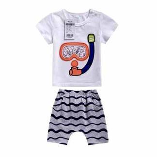巴拉巴拉2016夏新款童装 男幼童婴儿针织卡通套装 21192161106【六一欢乐颂】