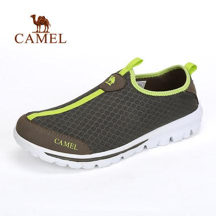camel骆驼户外徒步鞋 春夏款男女套脚网鞋出游徒步鞋