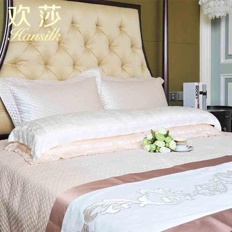 Hansilk/欢莎真丝面料 蚕丝大豆纤维涤纶纤维填充挚爱双人蚕丝枕