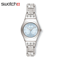 Swatch 石英表2014女表水钻 莲花YSS222G