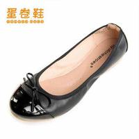 蛋卷鞋2016新款夏平底鞋简约小白鞋单鞋休闲柔软防滑平底鞋EQS-0269-100