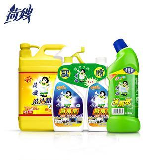 荷嫂洗洁精2kg+厨房宝抽油烟机清洗剂+洁厕灵马桶清洁剂组合装包