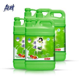 荷嫂大米谷物瓶装洗洁精 2KG*4瓶果蔬餐具清洗剂厨房洗碗液包邮