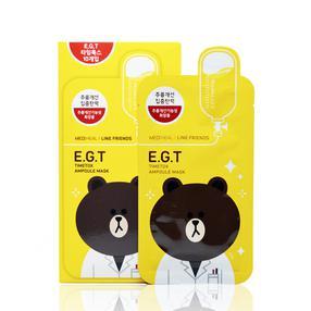 韩国  可莱丝line卡通限量版面膜(抗皱弹力黄色布朗熊) 10片/盒