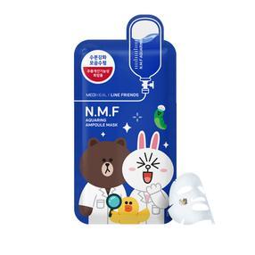 韩国  可莱丝line卡通限量版面膜(超强补水蓝色情侣熊兔)10片/盒