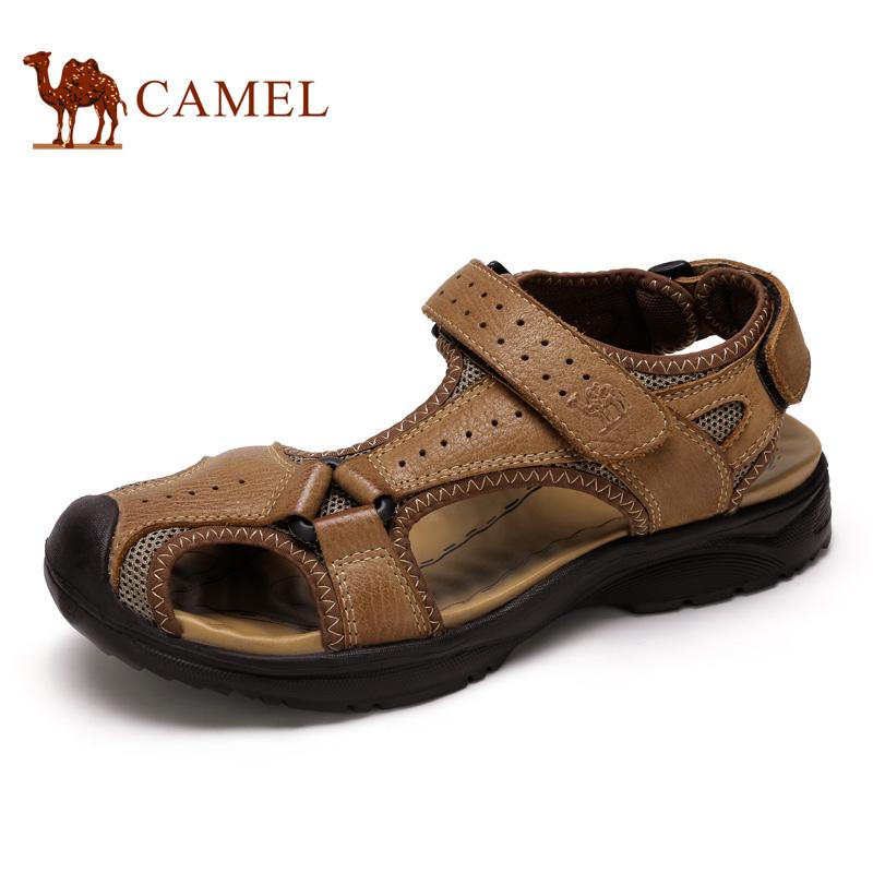 camel骆驼男鞋 2016夏季新款户外休闲时尚耐磨透气沙滩男凉鞋