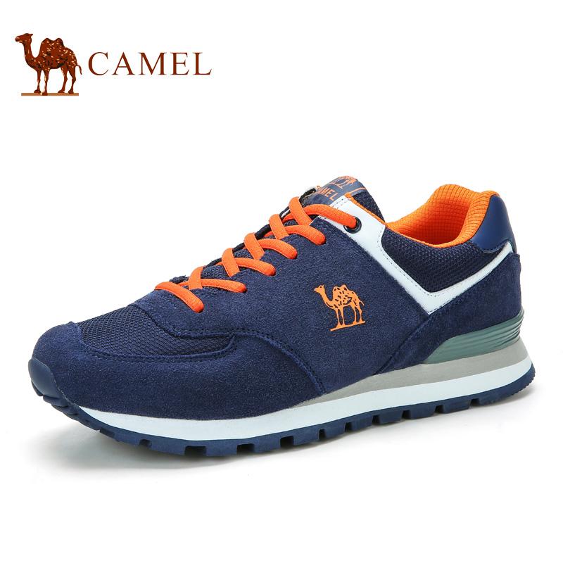 camel骆驼男鞋 2016新款户外运动休闲透气牛皮旅游运动鞋男鞋