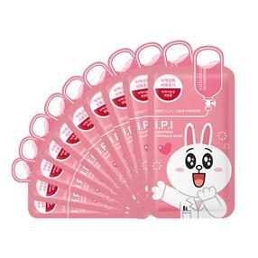 韩国 可莱丝Clinie卡通限量版 I.P.I 清洁亮白针剂面膜贴【粉色可妮兔】27ml/片  10片/盒