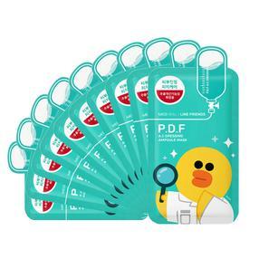 韩国 可莱丝Clinie卡通限量版  P.D.F舒缓肌肤针剂面膜贴  【绿色莎莉鸭】 27ml/片  10片/盒