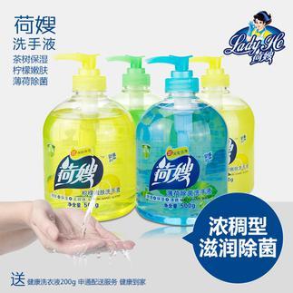 荷嫂 泡沫洗手液瓶装500g*4瓶抑菌消毒酒店卫生间专用