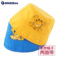BABiBOO  男女宝宝全棉渔夫遮阳帽两面带  GDAC602018