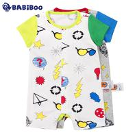 BABiBOO  2016夏装新款婴儿纯棉连体衣  BOBT601598