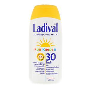【德国直邮】Ladival 原装进口婴幼儿 护肤物理防晒乳宝宝防晒防水乳SPF30    200ml