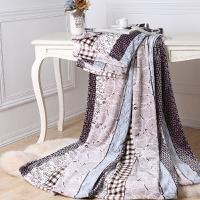水星印花珊瑚绒毯(产品规格:180x200cm 成份:珊瑚绒 净重:1000g)