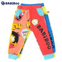BABiBOO  加菲猫春季男女童纯棉休闲长裤  GDPL601694