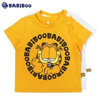 BABiBOO  加菲猫夏装新款男女童短袖T恤  GDTS601244