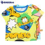 BABiBOO  加菲猫男女童短袖纯棉T恤  GDTS601677