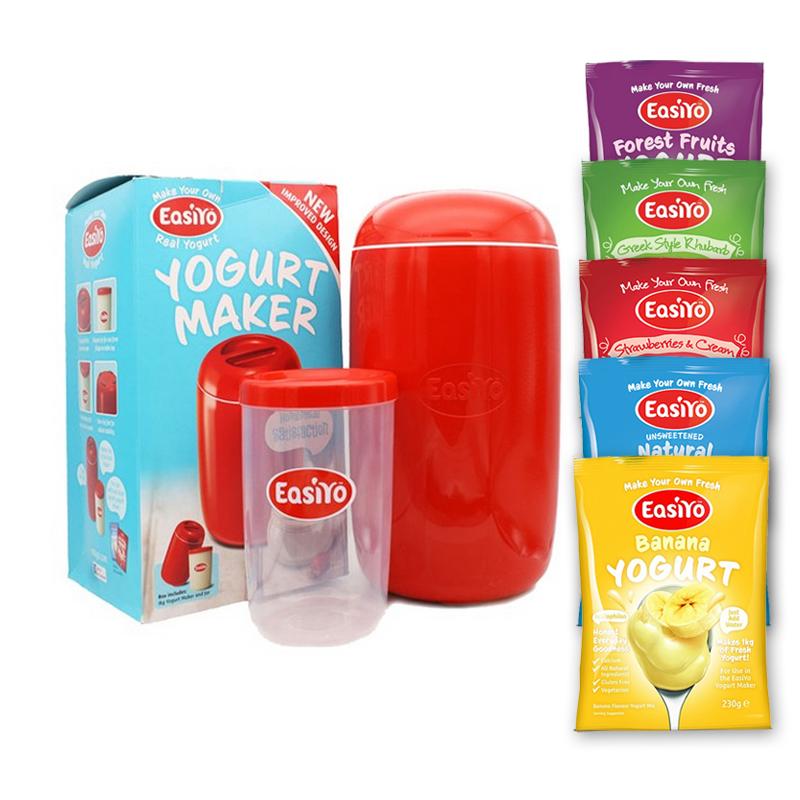 【澳洲直邮|包税包邮】Easiyo易极优不插电酸奶机 1000ml(1台酸奶机+5袋酸奶粉)