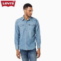 Levi's李维斯男士修身水洗翻领尖领牛仔衬衫65816-0116