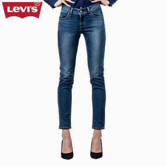 Levi's李维斯秋冬季REVEL系列女士中腰紧身水洗牛仔裤21116-0055