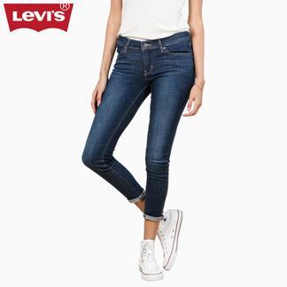Levi's李维斯700系列女士711紧身窄脚水洗牛仔裤19560-0046