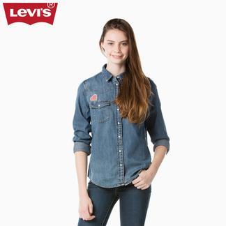 Levi's李维斯新春系列女士纯棉长袖牛仔衬衫24996-0011